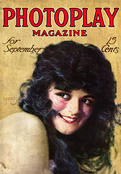 Anita Stewart on the cover of Photoplay Magazine, September 1915. Bizarre Los Angeles