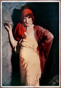 Betty Blythe in color. (Bizarre Los Angeles)