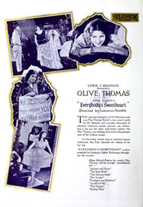 "Olive Thomas' last film, ""Everybody's Sweetheart"" (1920). Bizarre Los Angeles"