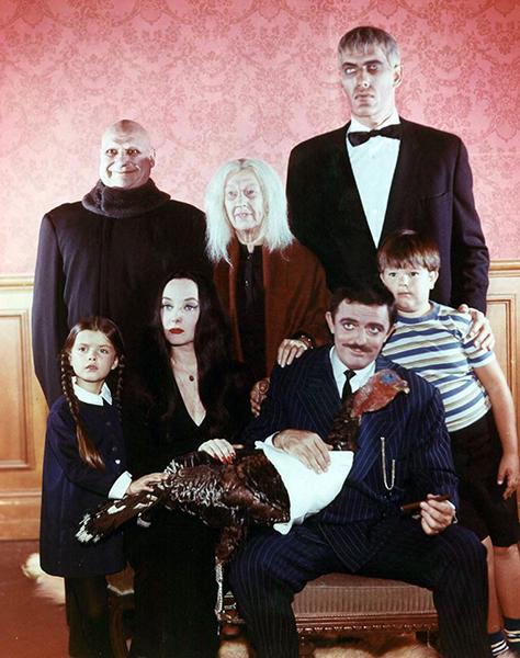 Addams Family Thanksgiving Photo (Bizarre Los Angeles)