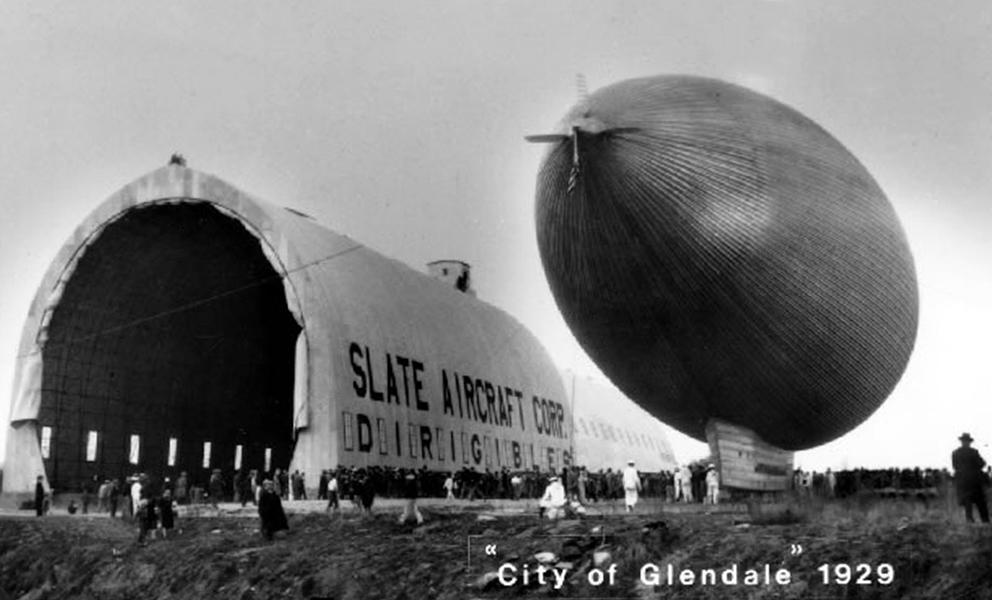 Dirigible City of Glendale 1929