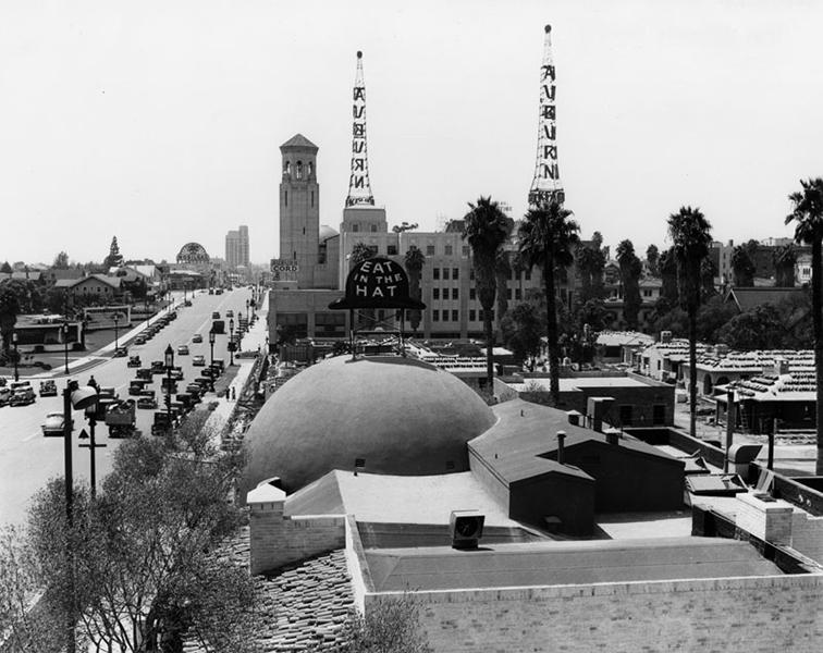 Brown Derby Wilshire Boulevard 1930s Bizarre Los Angeles