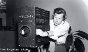 Camera Man for TV Station W6UZO, Los Angeles, CA 1949