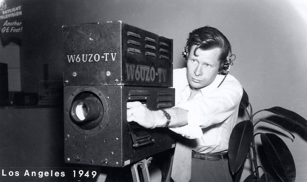 Camera Man for TV Station W6UZO, Los Angeles, CA 1949