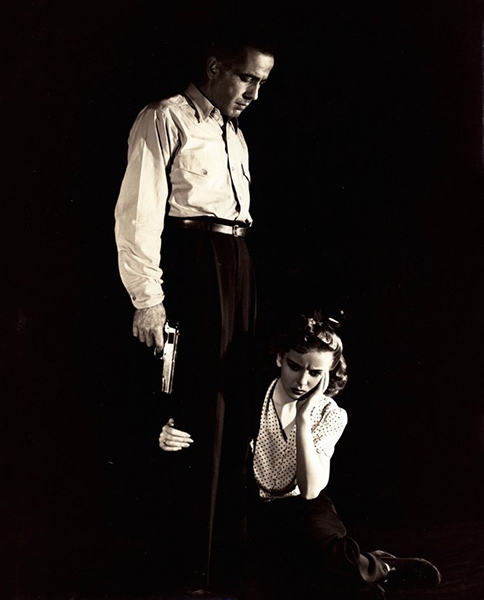 "Humphrey Bogart and Ida Lupino in ""High Sierra"" (1941). Bizarre Los Angeles."