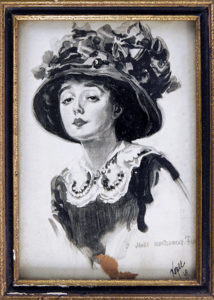 Mabel Normand painting