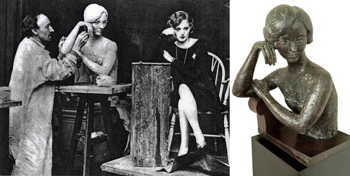 Tallulah Bankhead sculpture