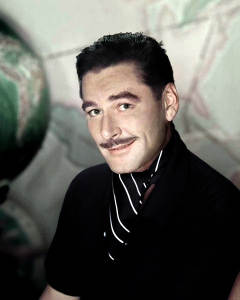 Errol Flynn smirk