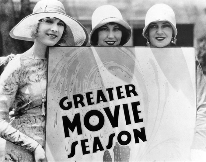 Esther Ralston, Fay Wray, and Olga Baclanova in 1929. (Bizarre Los Angeles)