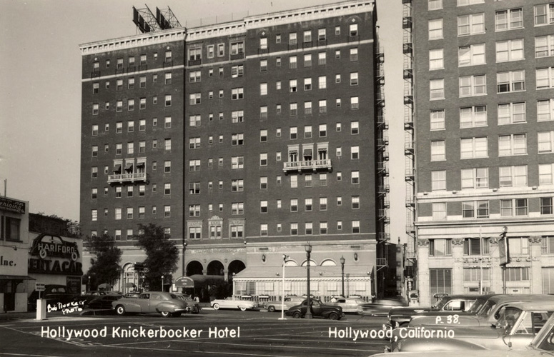 Fun fact. The parking lot across the street from the Knickerbocker was originally owned by film star Laura La Plante. She had originally intended to build a home on the site. However, once the Security Apartments project started in 1923, she abandoned her plans, and converted the plot into a parking lot. She then sold it for a tidy little profit.