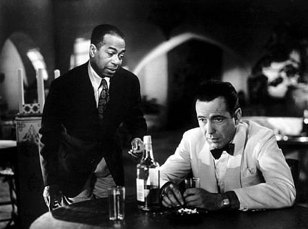 """""""Casablanca."""" With Dooley Wilson and Humphrey Bogart. Bizarre Los Angeles."""