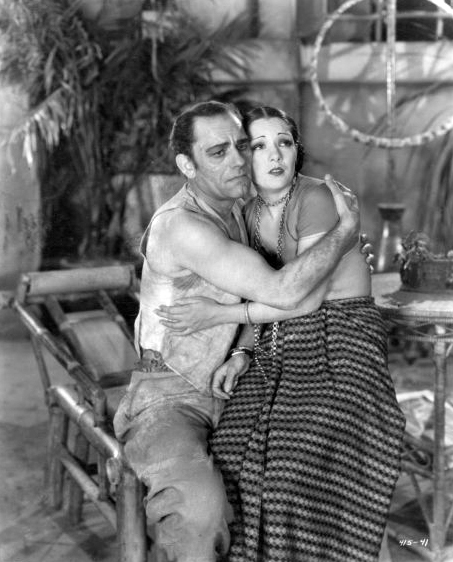 """Lon Chaney and Lupe Velez in """"Where East Is East"""" (1929). Bizarre Los Angeles"""