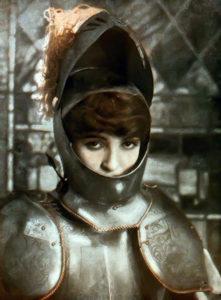 Alice Joyce, knighted. (Bizarre Los Angeles)