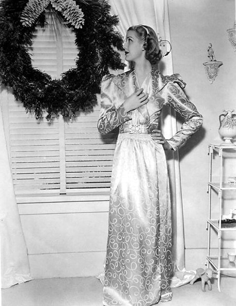 A christmas photo of Anita Louise in 1937. (Bizarre Los Angeles)