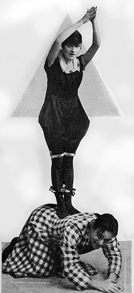 Silent film stars Fay Tincher and Douglas Fairbanks Sr. (Bizarre Los Angeles)