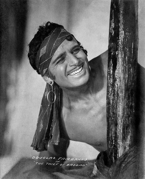 Douglas Fairbanks in The Thief of Bagdad (1924). Bizarre Los Angeles