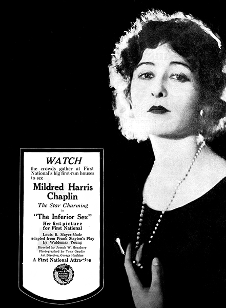 "Mildred Harris in ""The Inferior Sex"" (1920). Bizarre Los Angeles"