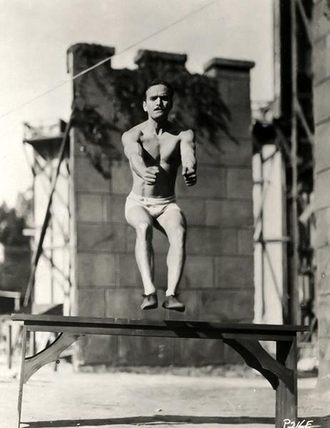 Douglas Fairbanks exercising