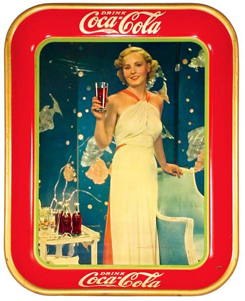 A Madge Evans Coca-Cola serving tray, circa 1933.