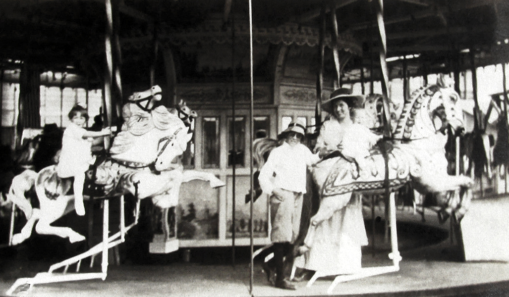 An unidentified carousel somewhere in Los Angeles in the 1910s.