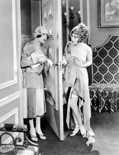 """Isn't that a scream? Just like the director that used to tell Renée Adorée [left] to speak more Frenchy. 'My heavens, man,' Renee told him one day, 'I was born and raised in France. I am French.' "" -- actress Dorothy Sebastion [pictured right] commenting on movie making at the end of the silent era. Both of them co-starred in On Ze Boulevard (1927), directed by Harry F. Millarde, which was released as a silent...so if the quote was in reference to that film, it would be bizarre unless M-G-M was considering adding spoken dialogue. Bizarre Los Angeles"