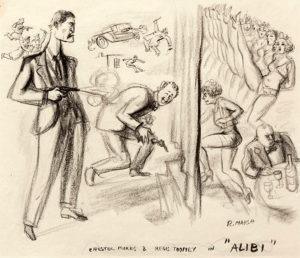 Chester Morris Regis Toomey sketch