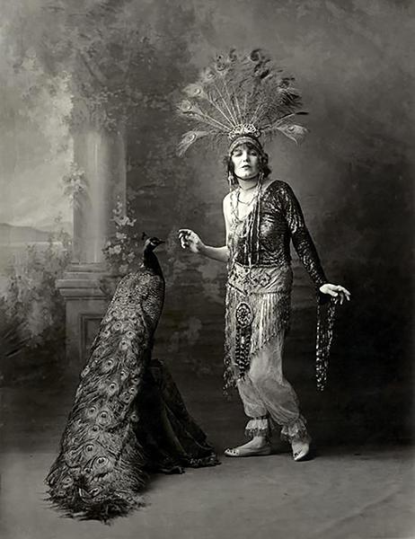 Louise Glaum peacock