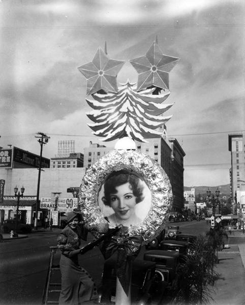 Claudette Colbert Christmas 1932
