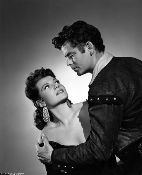 "Rita Hayworth and Glenn Ford in ""The Loves of Carmen"" (1948) Bizarre Los Angeles"