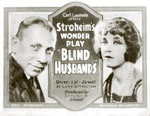 Blind Husbands 1919 Erich von Stroheim Francelia Billington