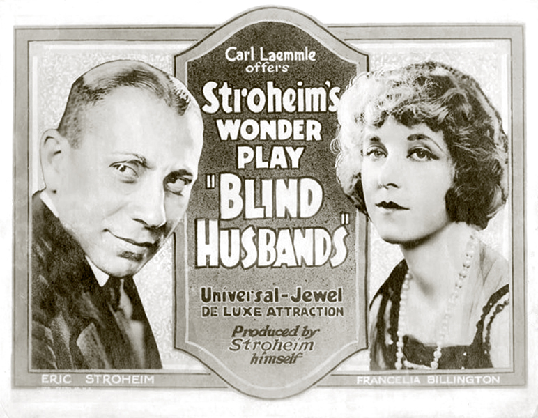 Blind Husbands 1919 Erich von Stroheim Francelia Billington