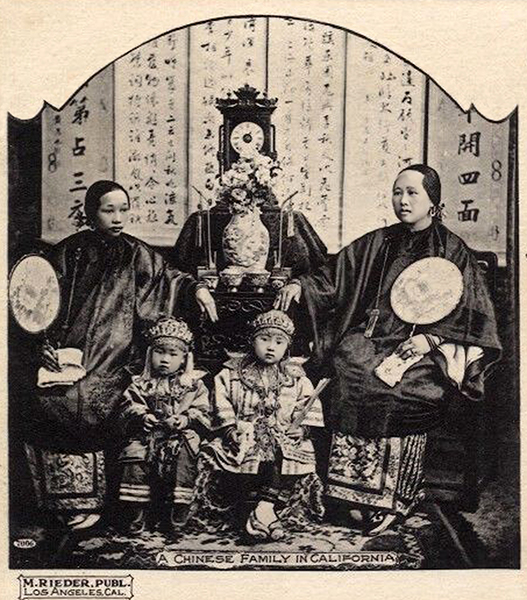 Los Angeles Chinese Family 1904