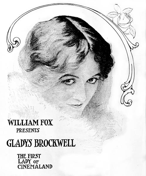 Gladys Brockwell sketch, circa 1917. (Bizarre Los Angeles)