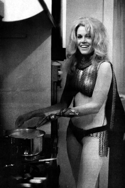 Jane Fonda Barbarella cooking