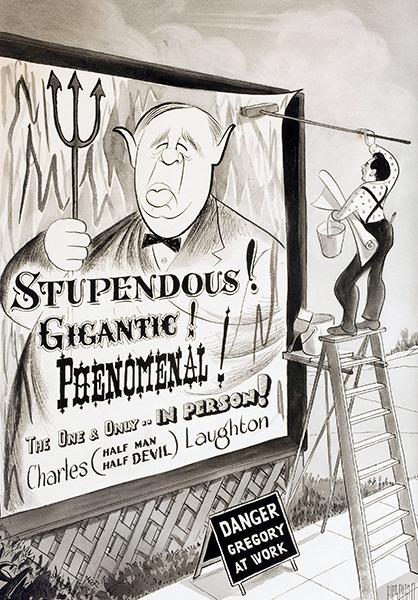 Charles Laughton Caricature