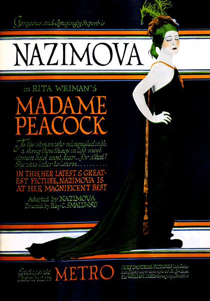 "Alla Nazimova in ""Madame Peacock"" (1920)"
