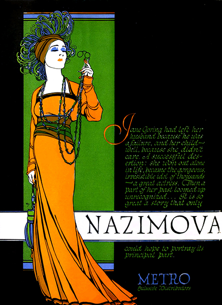 Alla Nazimova publicity ad from 1920. Bizarre Los Angeles.