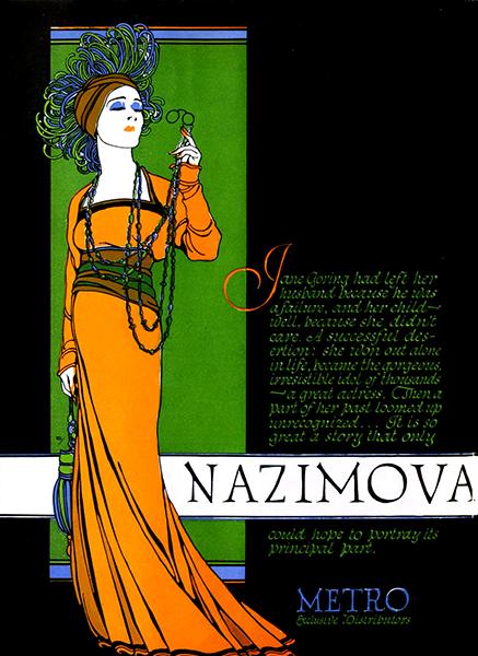 Alla Nazimova publicity ad from 1920. Bizarre Los Angeles.