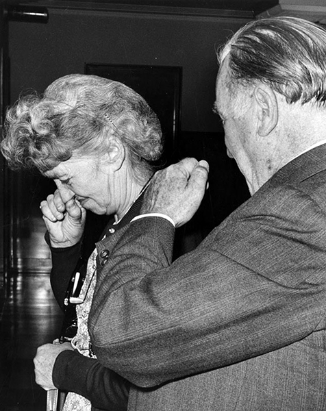 Here are Burbank residents Margaret Henderson, 62, and her husband Jack, 64, after their arrests for working as bookies in late April 1960. Their arrest was part of a nationwide gambling raid that covered 53 cities and led to over 80 arrests.(Bizarre Los Angeles)