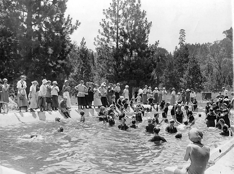 Los Angeles National Forest swimming pool
