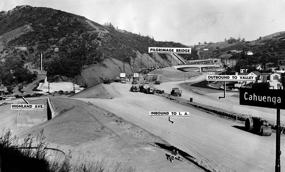 cahuenga pass construction 1953
