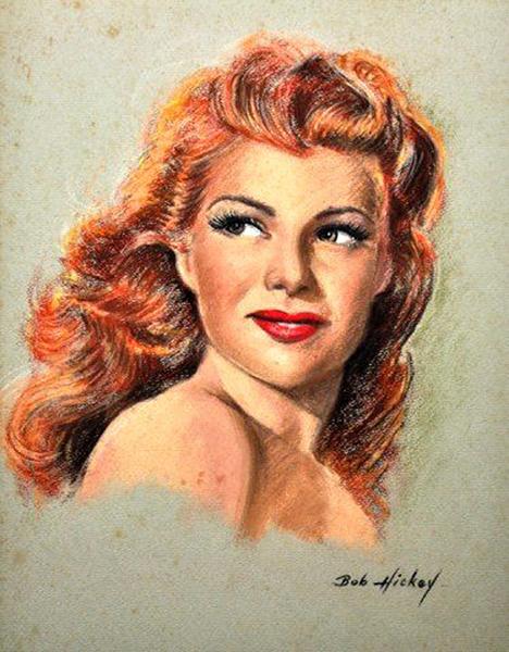 Rita Hayworth painting