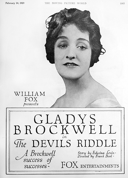 Gladys Brockwell The Devil's Riddle