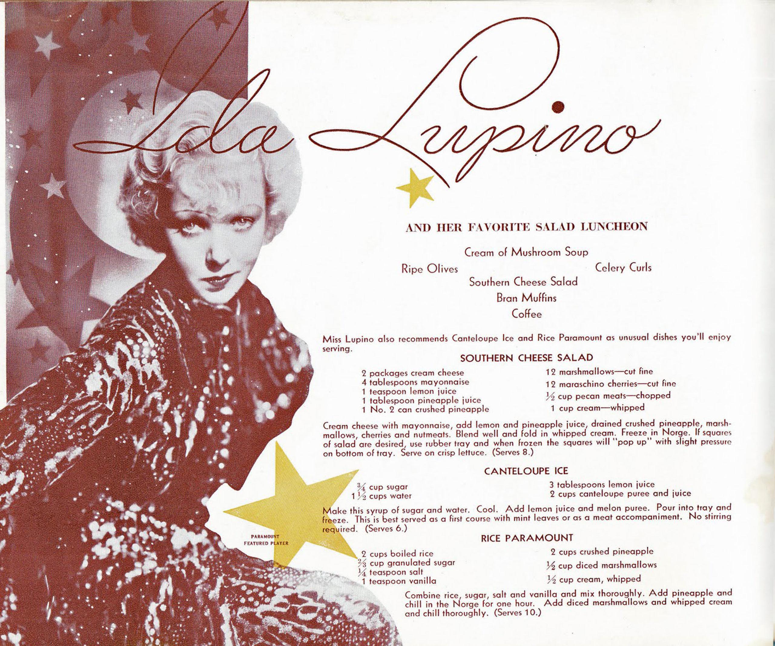 Ida Lupino Recipes