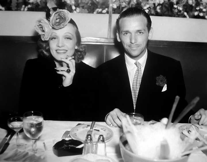 Marlene Dietrich and Douglas Fairbanks, Jr. Taken in 1937.