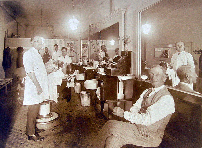 barber shop 1920s