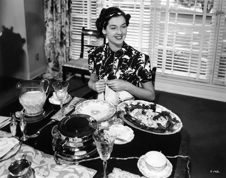 Rosalind Russell candid