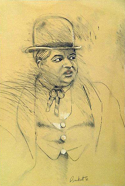 Roscoe Fatty Arbuckle drawing