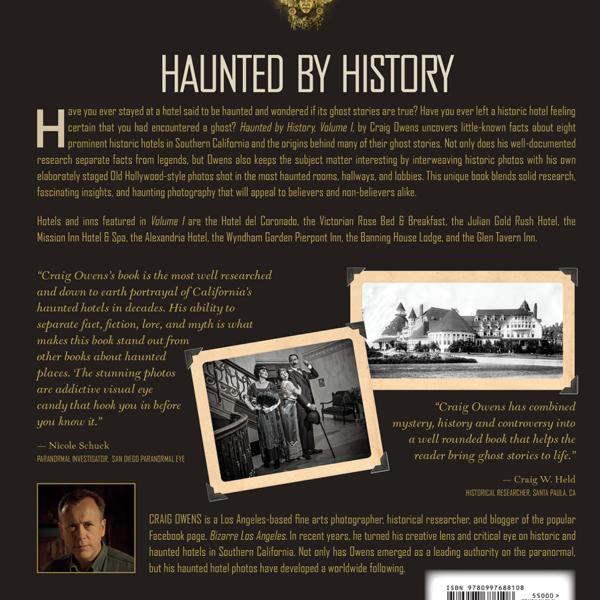 Haunted History back cover bizarre los angeles craig owens