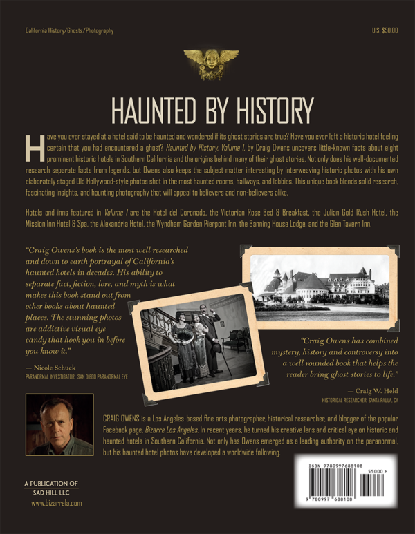 Haunted History back cover bizarre los angeles craig owens